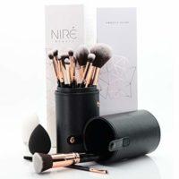 Artistry Set de Niré: brochas de maquillaje veganas con estuche de bro...