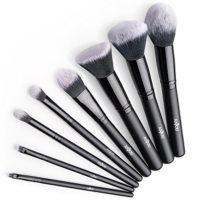 Brochas Maquillaje profesional 8 Piezas de Anjou, Set de Brochas de Ma...