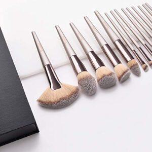 Brochas de Maquillaje, 15pcs Maquillaje Profesional Pinceles Maquillaj...