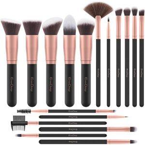 Brochas de Maquillaje EmaxDesign 17 piezas Pinceles de maquillaje prof...