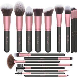 Brochas de Maquillaje EmaxDesign 18 pcs Juego de brochas de maquillaje...