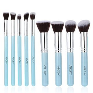 Brochas de Maquillaje Profesional, Abody 9 pcs Pinceles de Maquillaje ...
