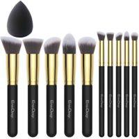 EmaxDesign - Juego de brochas de maquillaje kabuki de fibra sintética ...