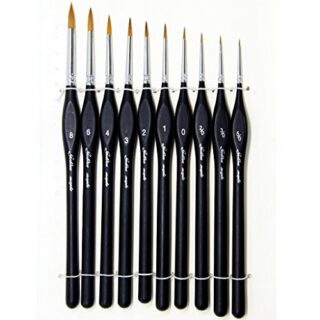 Pinceles para Pintura, 10 pcs Miniatura Cepillos para Pintura de Arte ...