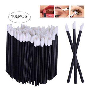 Xiton 100pcs desechables pincel pincel labios para brillo de labios pi...