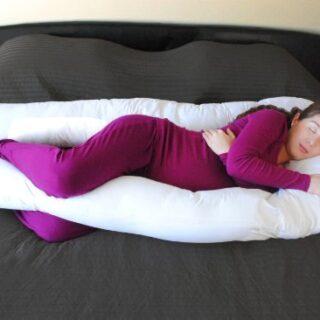 SAMAY Almohada de Maternidad para Embarazadas con Forma de U para Cuer...
