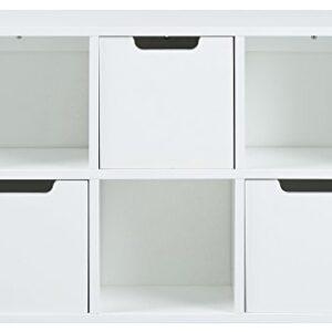 AC Design Furniture Mariela Estante, Madera, Blanco, Regal