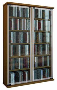 VCM Galerie Mueble CD/DVD para 300 Piezas, Roble rústico, 91,5x60x18 c...