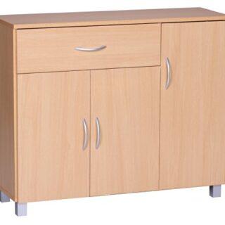 Wohnling WL1, 333 cómoda 90 x 75 cm con 3 Puertas y 1 cajón, Madera de...