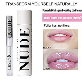 Nubyen Desnudo - Potente Volumizing, Aumento, Plumping Serum Lip Gloss...