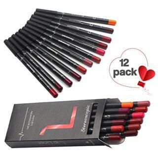 Xiton Mate Lápiz Delineador de labios Conjunto 12 colores del lápiz la...