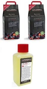 2x lotusgrill haya Saco de carbón vegetal 2,5kg Incluye lotusgrill q...