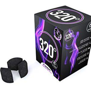 320° - Carbón de coco (3 Piezas de círculo/Disco - 27 mm) natural para...
