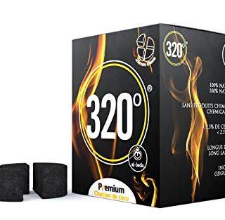 320° - Carbón de coco (círculo/Disco) natural para cachimba shisha, na...