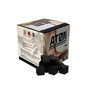 Aton - Carbón de Coco Natural de Primera Calidad para cachimba (26 mm,...