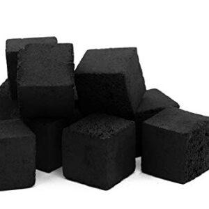 Aton Carbón de Coco prémium, 1 kg, 100% Natural, de Coco, para Shisha,...