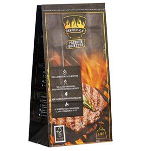 Barbec-U Premium 200100001189 Carbón para Barbacoa, Negro, 50x23x13 cm