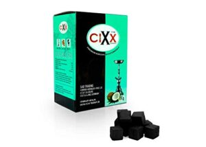 CIXX-Aton - Carbón de Coco para Shisha, 1 kg, Natural, sin Humo, sin O...