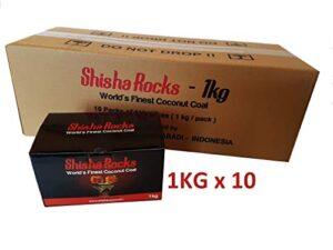 Carbón Shisha Hookah de 10 kg Carbón natural de coco por Shisha Rocks ...