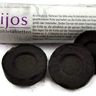 Carbón autoinflamable de encendido rápido, 33mm de diámetro, accesori...
