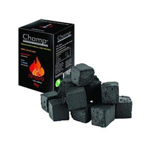 Champ - Cubo de carbón de Coco para Chicha/Narguilé/Hookah - 1kg - 25m...