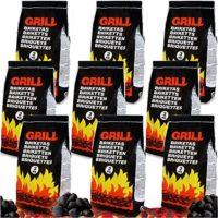 Deuba 27 kg de carbón vegetal para barbacoa ecónomico y duradero perfe...