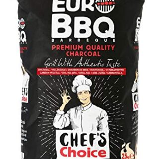 EUROBBQ Barbeque Black Chef's Choice carbón profesional de primera cal...