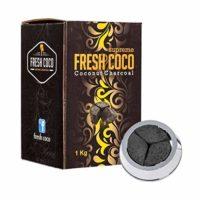 Fresh coco Supreme carbón Shisha Natural Superior 1kg Compatible con ...