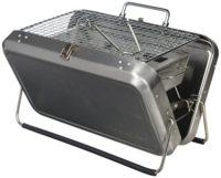 Kikkerland - Barbacoa portátil en maletín (Acero Inoxidable), Color Pl...