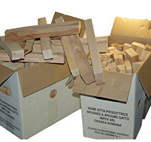 Madera de haya natural para BARBACOAS y otros usos en envase de 7 kg