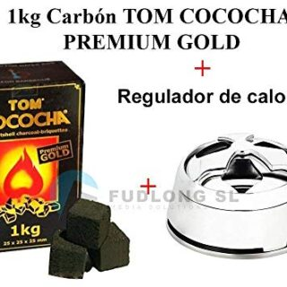 [PACK] 1kg CARBÓN para cachimba TOM COCOCHA PREMIUM GOLD+ Regulador de...