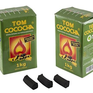 Tom Cococha Hexagon Sticks 1kg, Shisha carbón natural Coco Carbón