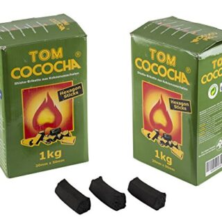 Tom Cococha Hexagon Sticks 1 kg, Shisha carbón natural Coco Carbón