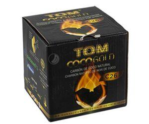 Tom Cococha Oro C261kg   Carbón natural   Shisha de carbón de cáscar...