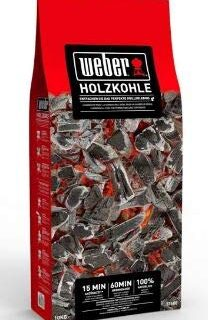 Weber Premium - Carbón Vegetal (10 kg), Color Negro