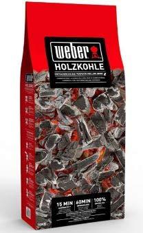 Weber Premium - Carbón Vegetal (10 kg), Color Negro