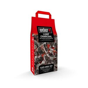 Weber briquetas de carbón Vegetal 4kg, Negro, 40.5x 35,2x 17.2cm, ...