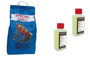 YesEatIs Kit Barbacoa - 2 x 200ml Gel Encendedor Original Lotusgrill +...