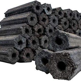 com-four® 10 Kg Briquetas de carbón, carbón de leña 100% Natural para ...