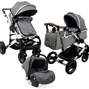 Carro de bebé 3 piezas, capazo + cochecito + asiento de coche + acceso ...