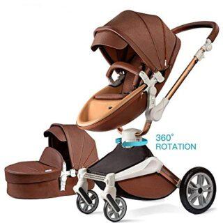 Hot Mom Silla de paseo Reversibilidad rotación multifuncional de 360 g...