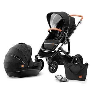 Kinderkraft PRIME, Cochecito, 2 en 1, Carro de bebé, Carrycot, Plegable ...
