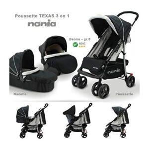 Silla de paseo, 3 piezas de capazo+ silla de coche BEONE grupo 0+ 4 es...