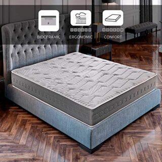 ROYAL SLEEP Colchón viscoelástico Carbono 135x190 firmeza Alta, Gama A...