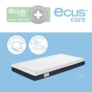 Ecus Care, Colchón de cuna antiasfixia, con certificado sanitario para...