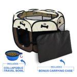 YOOBE Pet Portable plegable plegable valla de transporte y recipiente ...