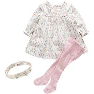 2pcs Conjuntos para Niñas Floral Camiseta Manga Larga + Pantalones Med...