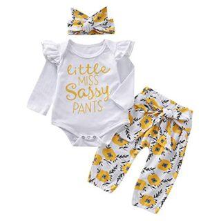 Chennie - Conjunto de Diadema para bebé, diseño Floral