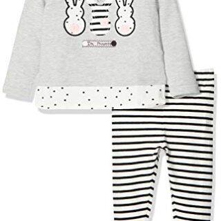 Chicco Completo Sweatshirt con Leggings Conjunto de Ropa, Gris (Grigio...