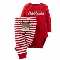 Conjunto de Navidad, Body+Pantalones Bebé Ninas Ninos Invierno Recién ...